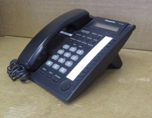 Panasonic KX-T7730E-B Black Advanced Hybrid Telephone Proprietary Phone LCD
